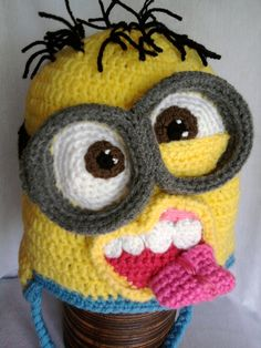 Minion inspired crochet hats PATTERN 12 months to adult-sized by MistybelleCrochet, $8.00
