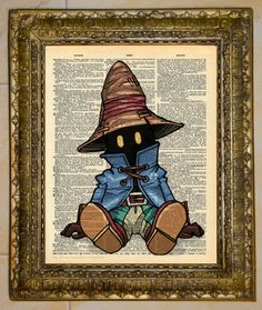 Final Fantasy IX Vivi Dictionary Art. by atthedrivein.  -I really like Vivi. Best magic user that I like