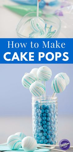 How to Make Cake Pops - Cake pops, the deliciousness on a stick made with crumbled cake mixed with icing or chocolate has so many flavor and design possibilities. Learn how to make them and get some decorating ideas and tips.