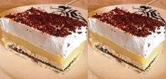 "Prajitura ""Minune"" - La ce gust delicios are, isi merita pe bune denumirea Hungarian Desserts, Romanian Desserts, Romanian Food, Sweets Recipes, Raw Food Recipes, Cooking Recipes, Mini Desserts, No Bake Cake, Afternoon Tea"