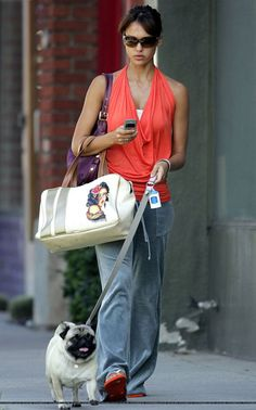Jessica Alba - Celebrities and their dogs
