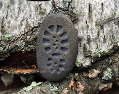Hiking Boot necklace, the road to adventure - Hiker's symbol- Engraved Beach Stone Pendant Jewelry