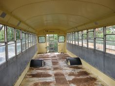 Old+School+Bus+Conversions+interior | Adventure of the Blue, Green, Orange and Yellow School Bus
