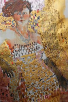 the latest contemporary artwork from Liz Hill Figure Painting, Painting & Drawing, Painting Styles, Klimt Art, Gustav Klimt, Fashion Painting, True Art, Contemporary Artwork, Watercolor And Ink