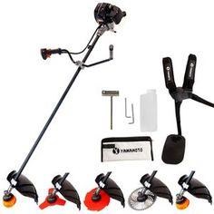 Motocoasa YAMAMOTO SRM 520 PRO, 7 accesorii, putere 4.5kW, 52cm3, 9000Rpm, disc Vidia Swiss Inox 40T, disc 3T Swiss Inox, disc 8T Swiss Inox + tambur cu fir, tip alimentare -benzina - eMAG.ro Outdoor Power Equipment, Stationary, Tips, Motors, Garden Tools, Counseling