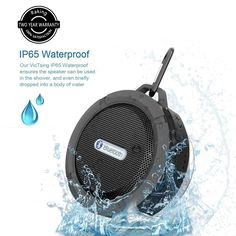 Raking Bluetooth Shower Speaker Mini Portable Wireless WaterProof, Dust-proof and Shockproof Speaker with Stereo Sound, Subwoofer, Free phone,FM function,SD Card (Black): Amazon.co.uk: Hi-Fi & Speakers