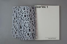 Dear zine cover design