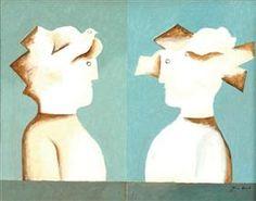 "Figures and pigeons - Jean David Illustration for Sașa Pană's ""the romanticised life of god"" (1932)"