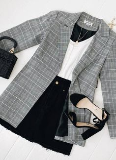 Looks Chic, Casual Looks, Mode Ootd, Look Blazer, Vetement Fashion, Cute Casual Outfits, Casual Attire, Stylish Outfits, Casual Blazer