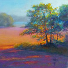 Love, love, love working with panpastel.  Now just to get this good at it!  From the Panpastel landscape gallery.