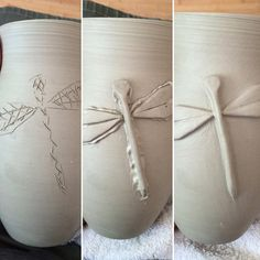 Great Totally Free Pottery Handmade coil Style One, two, three… I have big plans for you Dragonfly. Hand Built Pottery, Slab Pottery, Ceramic Pottery, Pottery Art, Pottery Handbuilding, Clay Texture, Clay Vase, Pottery Designs, Pottery Ideas