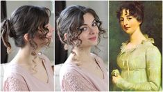 In this episode of Beauty Beacons of Fiction we're going to focus on Elizabeth Bennet, leading lady in Jane Austen's Pride and Prejudice. Everyday Hairstyles, Easy Hairstyles, 1800s Hairstyles, Historical Hairstyles, Hairdos, Hairstyle Ideas, Updos, Hair Ideas, Pride And Prejudice Elizabeth
