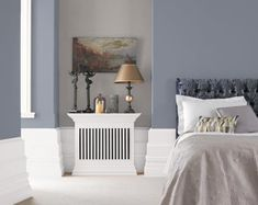 Blue Grey Paint Ideas from Crown Paints – Hazir Site Best Gray Paint, Gray Painted Walls, Warm Blue Paint, Feature Wall Bedroom, Crown Paints, Warm Grey Paint Colors, Living Room Grey, Dulux Grey Paint, Grey Paint