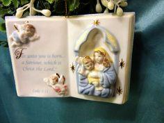 Ornament Religious Luke 2 11 Porcelain by PorcelainChinaArt
