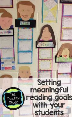 """The Teacher Studio: Learning, Thinking, Creating: """"Me as a Reader"""" Learn about setting meaningful reading goals with your students. Reading Goals, Reading Lessons, Reading Activities, Teaching Reading, Teaching Ideas, Guided Reading, Teaching Resources, Reading Strategies, Goal Setting Activities"""