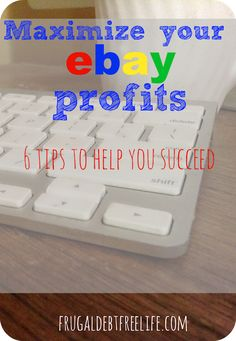 6 tips for maximizing ebay profits. The tips for shipping and photography are worth the read.