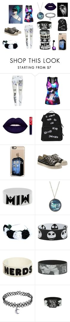 """Day of Punk"" by emo-mack ❤ liked on Polyvore featuring Filles à papa, WithChic, Valentino, Casetify, GIENCHI and Hot Topic"