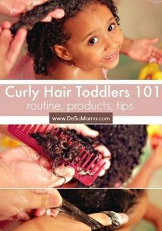 Curly hair toddlers are the most adorable of all  This curly hair guide includes...#adorable #curly #guide #hair #includes #toddlers Toddler Curly Hair, Curly Hair Baby, Mixed Curly Hair, Mixed Hair Care, Curly Hair With Bangs, Baby Curly Hair Products, Wavy Hair, Curly Girl, Long Hair