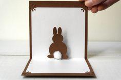 Handmade Pop Up Cards | Pop Up 3D Bunny Card - Original Handmade Unique Special Cute Sweet ...