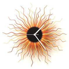 Medusa+Wall+Clock+-+Copper+-+Need+something+a+little+different+for+the+hallway?+Checkout+the+Medusa+Wall+Clock+in+copper!+This+designer+wooden+clock+takes+its+name+from+the+famous+Gorgon+of+Greek+legend,+depicting+the+writhing+snakes+that+Medusa+had+for+her+hair…