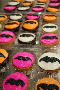 Haha! Mustached Cupcakes! <3