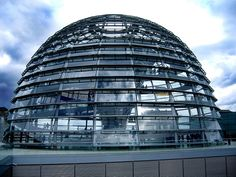 The Reichstag. Berlin, Germany. The Dome was designed by English architect Sir Norman Foster.