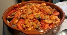Recipe of Zarzuela, a Spanish Bouillabaisse - The Zarzuela, cousin of . Shellfish Recipes, Seafood Recipes, Appetizer Recipes, Cooking Recipes, Healthy Recipes, Portuguese Recipes, Italian Recipes, Aioli, Exotic Food