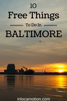 Everybody loves free stuff! Free things to do in Baltimore, Maryland, one of the most underrated cities on the East Coast of the United States.