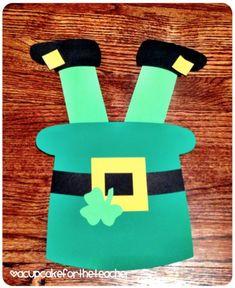 St Patricks Day Crafts for Kids Handprint Ideas #kidscrafts