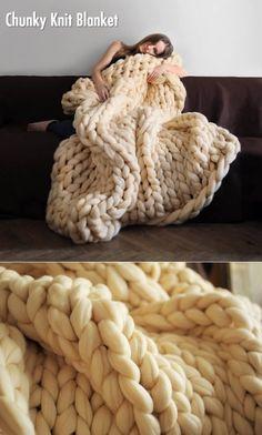 Doe wil dit grof gebreide deken, maar zo jeukende!