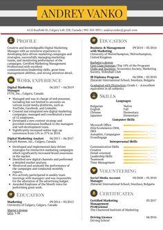 Marketing Resume, Digital Marketing Business, Resume Services, Manager Resume, Web Developer Resume, Resume Summary Examples, Registered Nurse Resume, Internship Resume, Nursing Resume