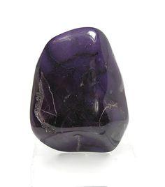 Purple Sugilite Glossy Black Richterite Tumble by FenderMinerals