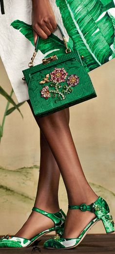 Dolce & Gabbana Women's Botanical Garden Collection Fall Winter 2016 2017