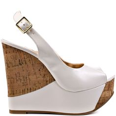 Heels I Love #heels #summer #high_heels #color #love #shoes Zesty - White Patent                      Luichiny