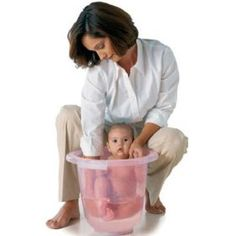 Tummy Tub Baby Bath - Pink $38.50-- Pain in the butt but I actually really like this for babies more then other ones.