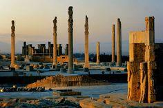 Alexander burned it down in ~300BC. It's still magnificent. Percepolis.
