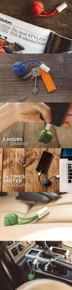 Unlike other #bulky #supplemental #power #banks, #BOLD #Knot is a #stylish, #pocket-sized #charger and a power bank for any #smartphone. It uses a #fashionable, knot-shaped design that's unrecognizable as a peripheral charger. Tiny #battery pack… big power! Get up to 3 hours of extra talk time, 2.5 hours of #internet, or 8 hours of #music. #Living #Audio #Technology #Yankodesign
