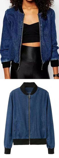 Every girl wants one blue denim jacket to decorate wardrobe.