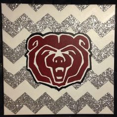 Replace with Bearcat Paw? Missouri State University, University Dorms, Graduation Caps, Grad Cap, Dorm Life, College Life, Bear Paintings, College Classes, Cap Ideas