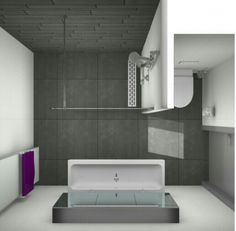 Here is a small bathroom style that said that realistically satisfies a straightforward, minimal, modern-day and luxurious interior style. Add A Bathroom, Bathroom Design Small, Bathroom Wall Decor, Bathroom Layout, White Bathroom, Bathroom Interior, Modern Bathroom, Bathroom Ideas, Bathroom Remodeling