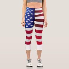 Custom Leggings, Best Leggings, Capri Leggings, Capri Pants, American Flag Leggings, Fitness Design, Athleisure Wear, Yoga Capris, Yoga Wear