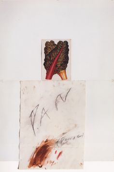 Cy Twombly, Pan, 1975, wax crayon, collage, 50 years of works on papers, Munich,  St. Petersburg 2003