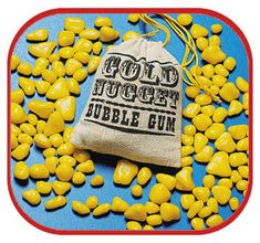 Gold Nugget Bubble Gum - I luved this stuff.I remember saving the bags to put pennies in! My Childhood Memories, Childhood Toys, Sweet Memories, 1970s Childhood, Magic Memories, Vintage Candy, Vintage Toys, Retro Candy, Vintage Stuff