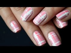 Pink Plaid Nail Tutorial {EASY} (+playlist)