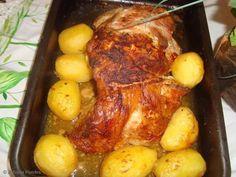 Receita de Pernil assado com batata