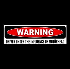 """DRIVER UNDER THE INFLUENCE OF MOTORHEAD"" Lemmy Kilmister STICKER Ace of Spades"