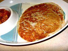 Set Dosa - Set Dosai - with vada kari- Atukula Attu South Indian Breakfast Recipes, Yummy Food, Ethnic Recipes, Delicious Food