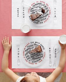 Children's Place Mat How-To from Martha Stewart Weddings
