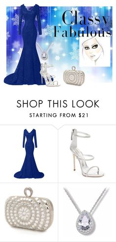"""Classy Blue"" by angelkyle on Polyvore featuring Giuseppe Zanotti and Mascara"