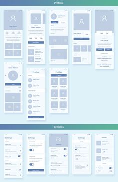 Webdesign_Wirefraimes Collector iOS Wireframe UI Kit Get Rid Of Moss And Algae For Good It's green; App Wireframe, Wireframe Design, Mobile Ui Design, Responsive Web Design, App Ui Design, Logo Design, User Interface Design, Design Design, Dashboard Design